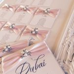 Sofia Collection - Wedding table plan with ornate frame and pearl brooch