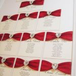 Scarlett red seating plan with diamante heart