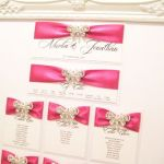 Crystal Butterfly seating table plan with frame