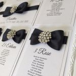 Wedding table plan - Black bow tie wedding with bling