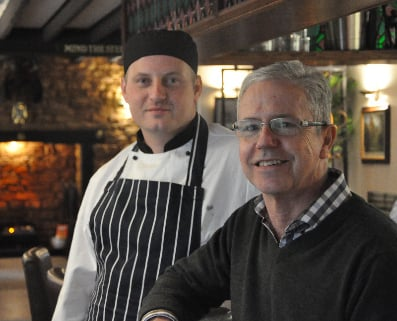 Head Chef David and owner Robert