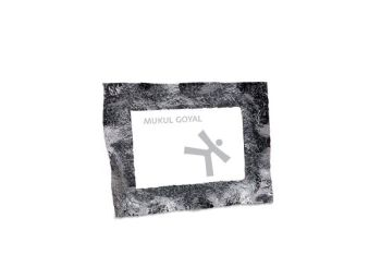 Mukul Goyal Crumpled Photoframe, Small, Chrome