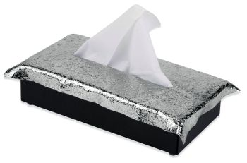 Mukul Goyal Crumpled Tissue Box, Chrome