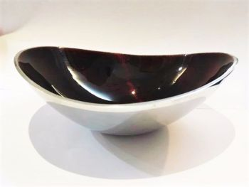 Oval Bowl Small Dark Brown