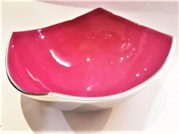 Four Point Bowl Pink Matt Large