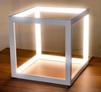 Cube Box LED Table Lamp - White