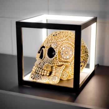 Cube Box LED Table Lamp - Black