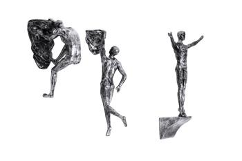 Antique Silver Colour - Rock Climbers' Trio Ornament