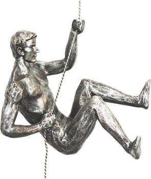 Antique Silver Colour - Rock Climber Figurine