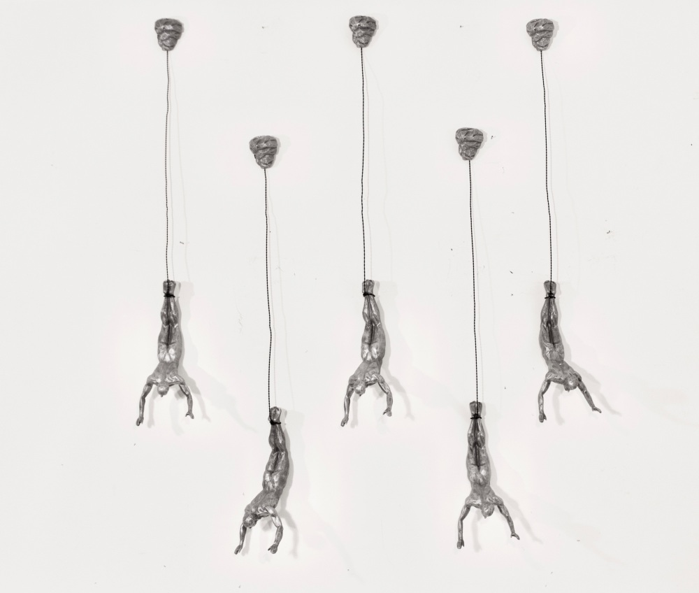 5x Bungee Jumper Figurine in Black Colour.