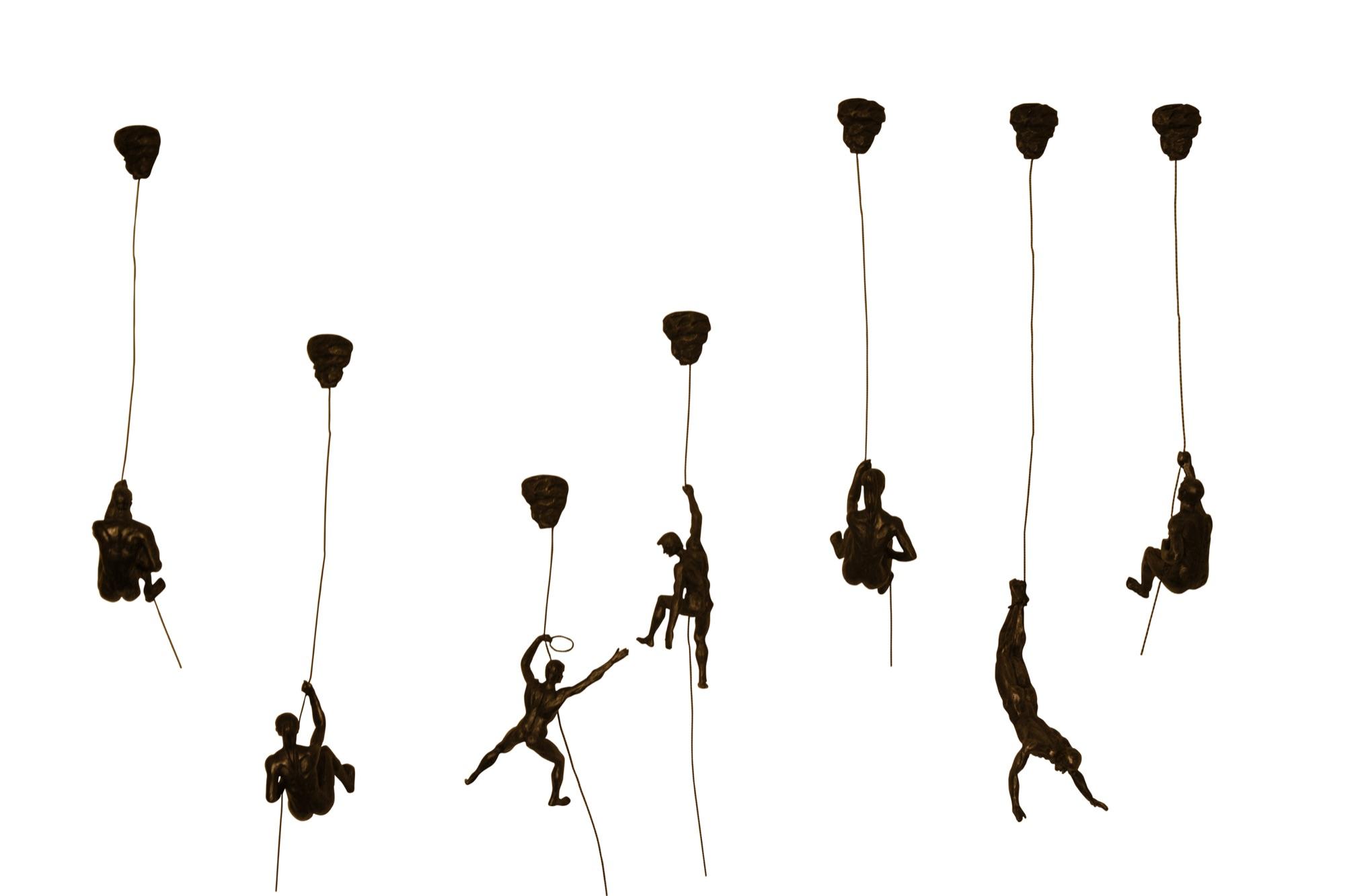 Climbing Men & Women Figurine Sculptures