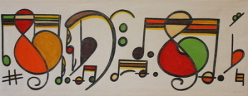 Music & More - Abstract Oil Painting