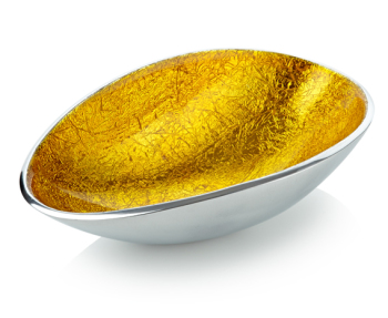 Oval Bowl Gold