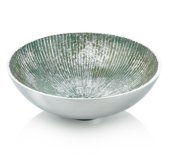 Round Bowl Turquoise and Silver