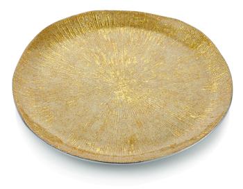 Round Platter Gold
