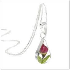 Rosebud pendant