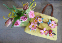 Vintage Vignette - peg bag felt kit
