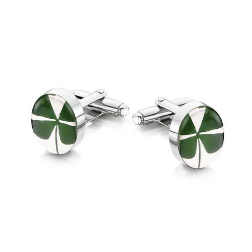 Four leaf clover cufflinks