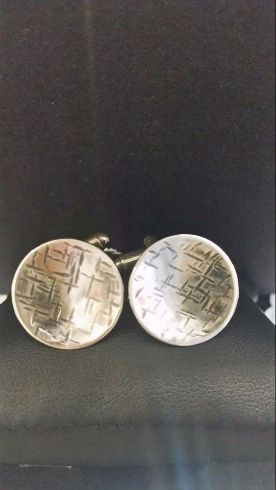 Handrafted silver cufflinks