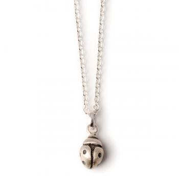 solid silver ladybird pendant