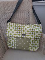 Green leaves and spots Eleanor's Attic satchel