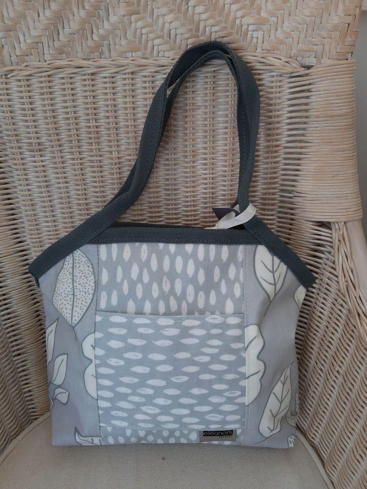 Eleanor's attic grey leaf Dandy bag