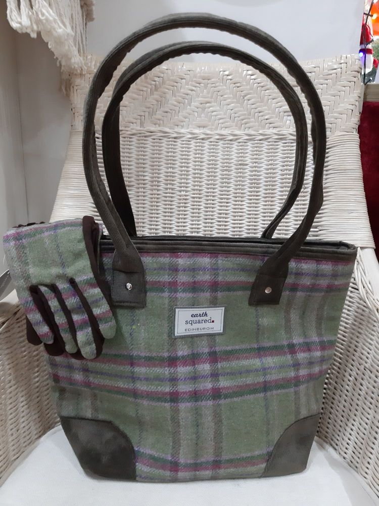 Fairtrade tweed tote bag