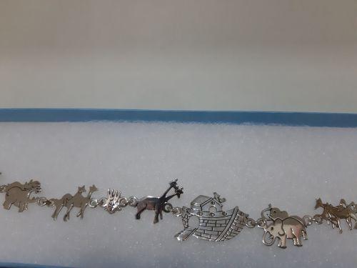 Noah's Ark silver bracelet
