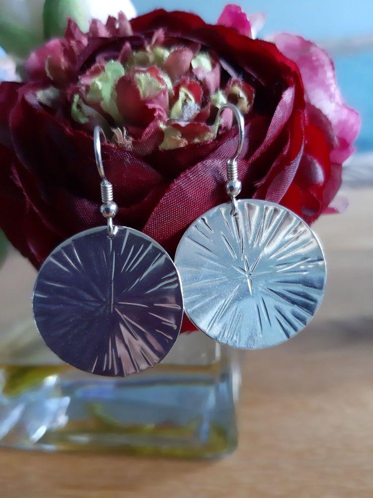 Cross Pein drop earrings