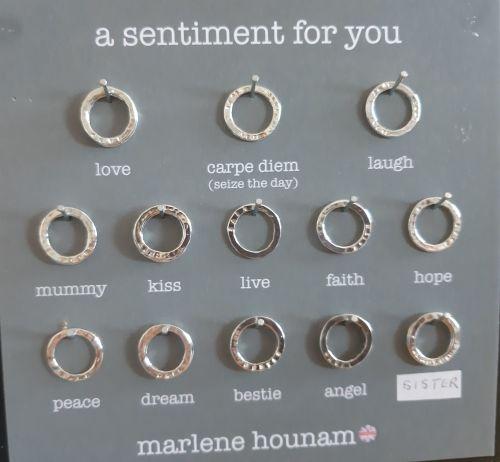 Silver sentiment discs