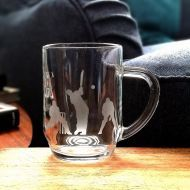 Etched Glass Tankard