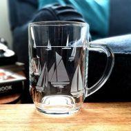 Etched Glass Tankard- Flotilla