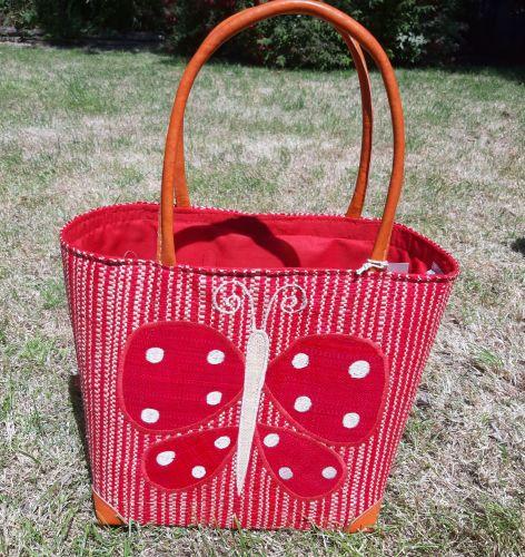 Medium red butterfly basket