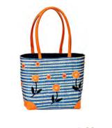 Small Blue stripe basket