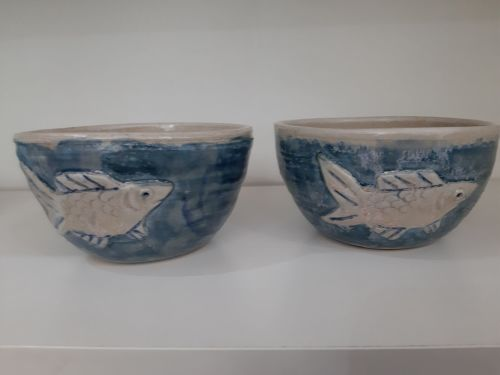 Fiona Kelly round fish bowls - Made in Dorset