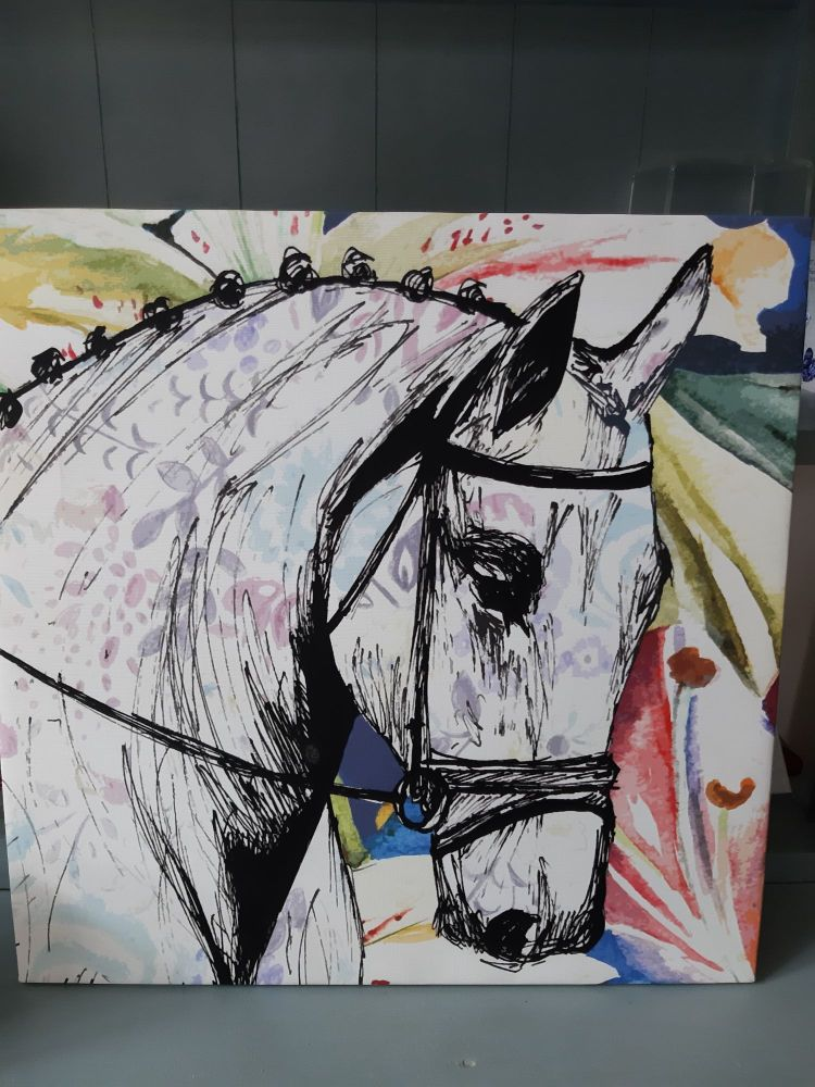 Large Horse Canvas