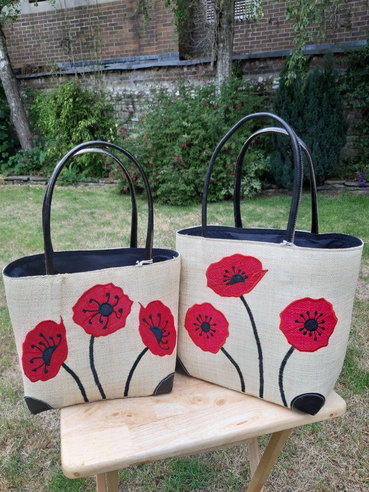Small plain poppy basket