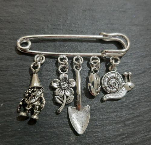 Hobby brooch for a gardener