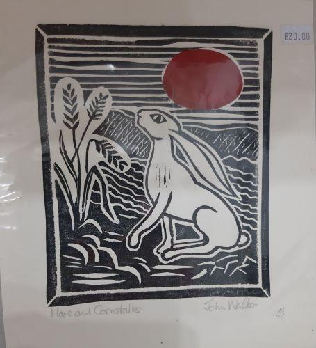 John Walker Original print Hare