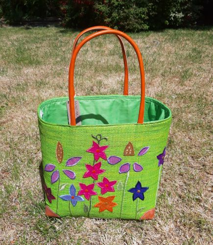 Small lime cottage garden basket
