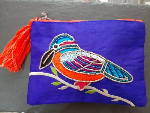 Kingfisher purse