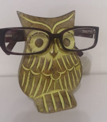 Wooden Owl Spectacle stand