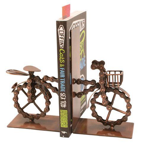 Bike chain bookends