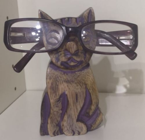 Wooden Cat Spectacle stand