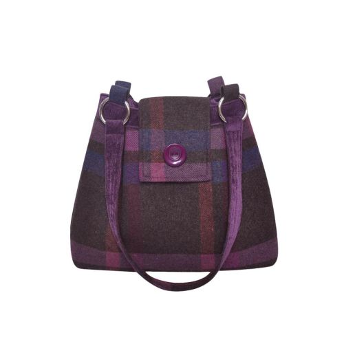 Ava Tweed Bag in Mulberry