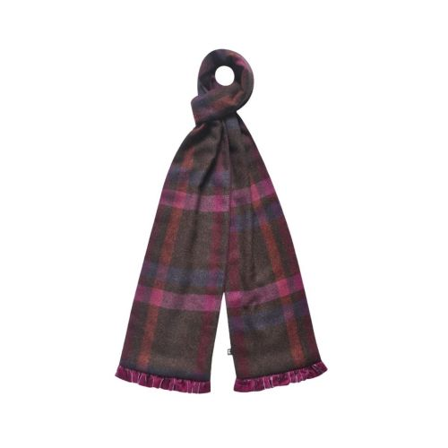 Tweed scarf in Mulberry