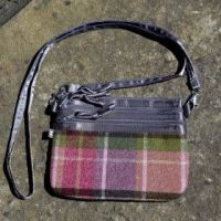 Tweed small cross body bag in Hawthorn