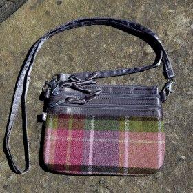 Tweed small cross body bag in Hawthorn