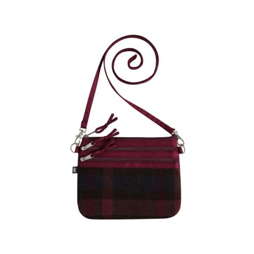 Tweed small cross body bag in Mulberry