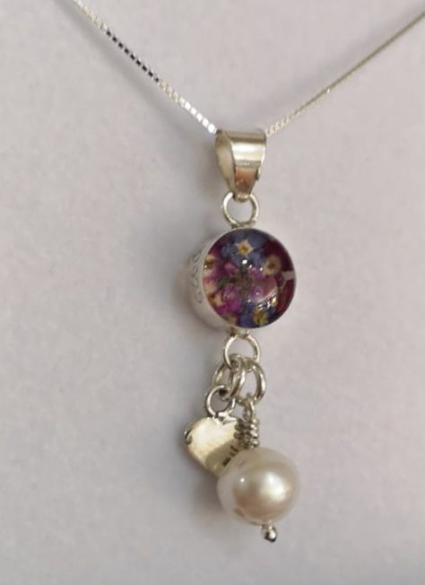 Purple haze  necklace with Sterling silver heart charm pendant with a singl